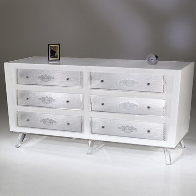 Shahrooz sylvana acrylic 6 drawer dresser reviews wayfair for Aparadores modernos