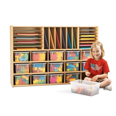 Young Time Sectional Storage Cubbie with Clear Trays