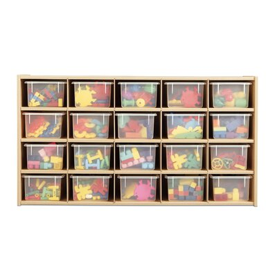 Young Time 20 Tray Storage Cubbie with Clear Trays