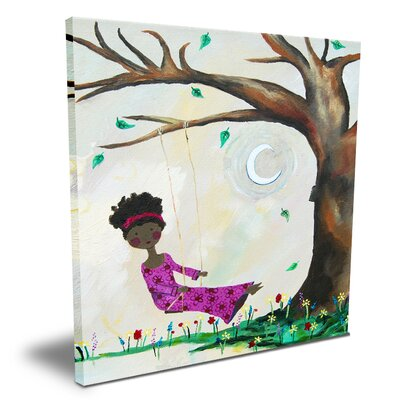 Wit and Whimsy Silver Moon Canvas Art