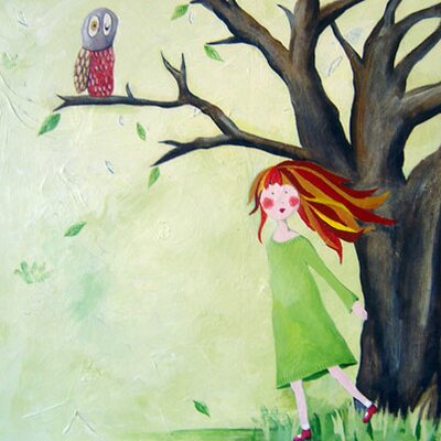 CiCi Art Factory Wit & Whimsy Who Who Owl Canvas Print