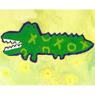 X and O Croc Paper Print