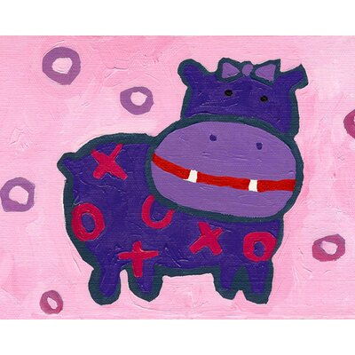 CiCi Art Factory Paper Prints X & O Hippo Canvas Print