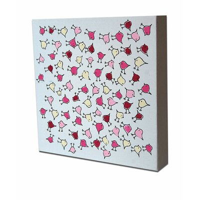 CiCi Art Factory Lotsa Random Birdies Original Canvas Painting