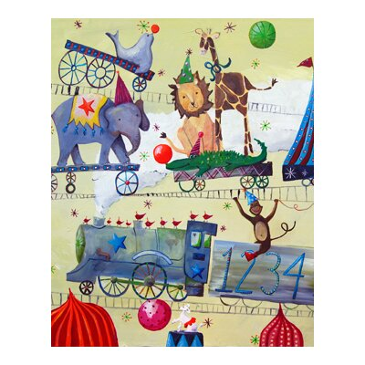 CiCi Art Factory Circus Train Paper Print