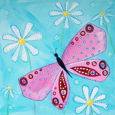 CiCi Art Factory Patchwork Butterfly Garden Paper Print by Liz Clay