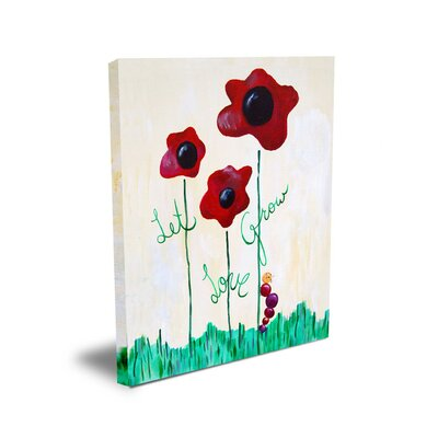 CiCi Art Factory Words of Wisdom Let Love Grow Canvas Art