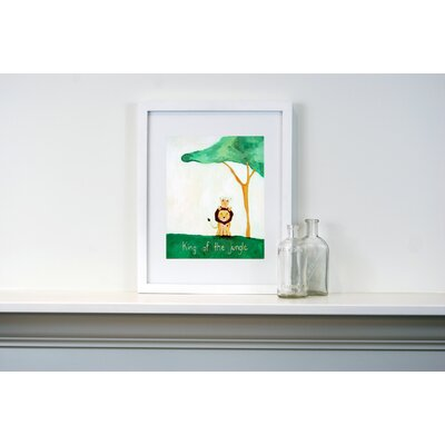 CiCi Art Factory Words of Wisdom King of The Jungle Paper Print