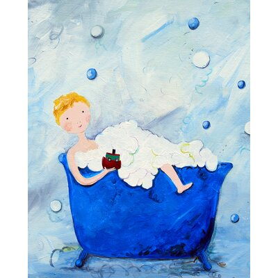 CiCi Art Factory Wit & Whimsy Boy in a Tub Print Art