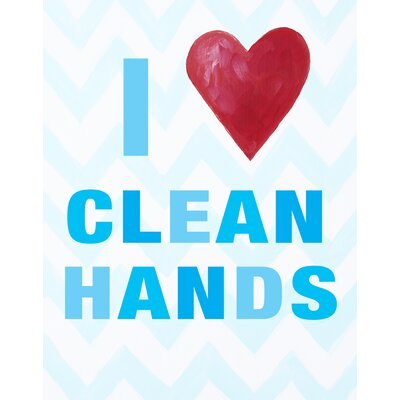 I Heart Clean Hands Paper Print
