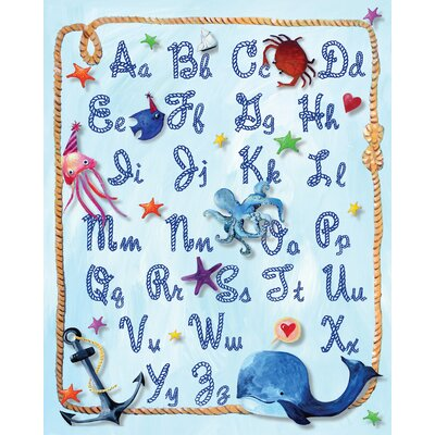 Nautical Alphabet Rope Gicl�e Canvas Art