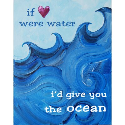 CiCi Art Factory Nautical I'd Give You The Ocean Giclée Canvas Print