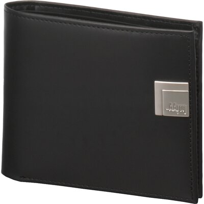 Box Calf Accessories Leather Wallet with Coin Pocket in Black
