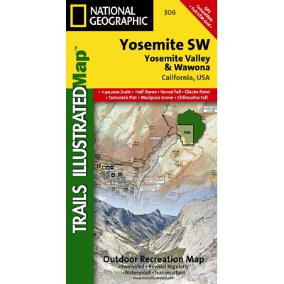 National Geographic Maps Trails Illustrated Map Yosemite SW, Yosemite Valley & Wawona