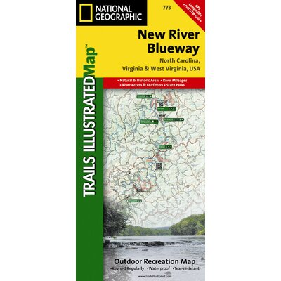 National Geographic Maps Trails Illustrated Map New River Blueway