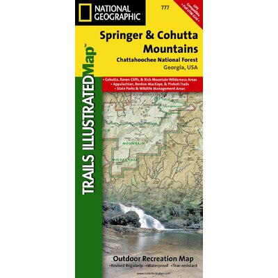 National Geographic Maps Trails Illustrated Map Springer & Cohutta Mountains, Chattahoochee National Forest