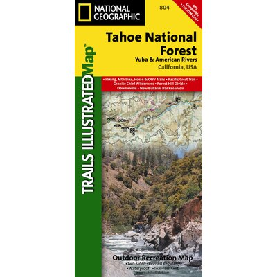 National Geographic Maps Trails Illustrated Map Tahoe National Forest, Yuba & American Rivers