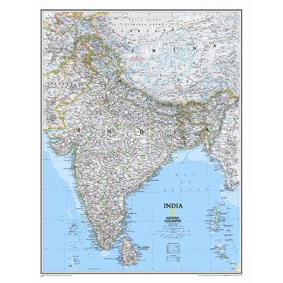 National Geographic Maps India Classic Wall Map