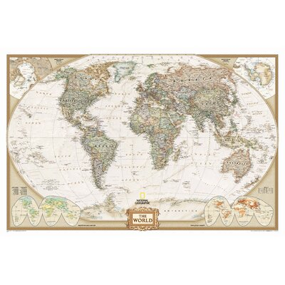 National Geographic Maps World Executive Wall Map