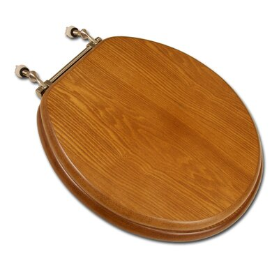 Comfort Seats Decorative Front Wood Round Toilet Seat