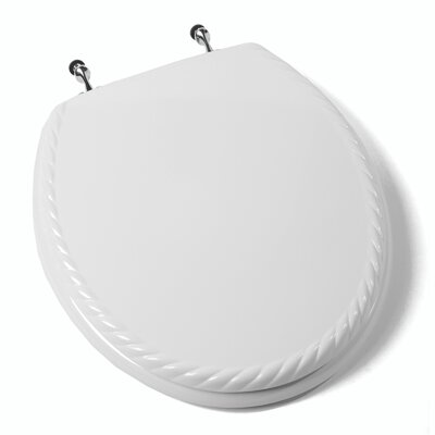 Deluxe Scallop Round Molded Wood Toilet Seat