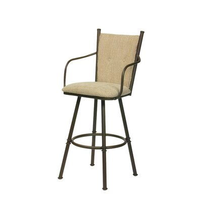 Trica Arthur II Swivel Bar Stool with Cushion