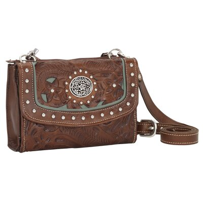 American West Lady Lace Texas Two-Step Wallet / Cross-Body Bag