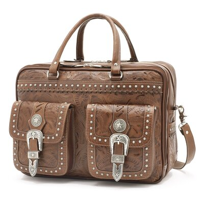 Retro Romance Leather Briefcase