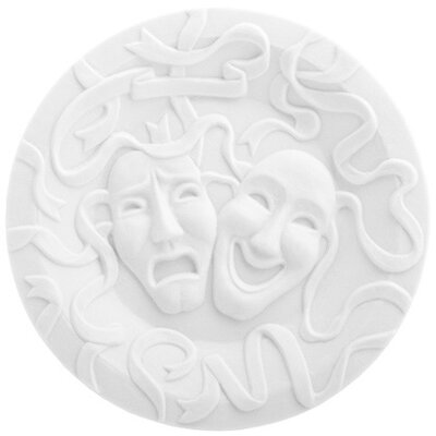 "Makkum Biscuit by Studio Job 6.75"" Tragicomedy Plate"