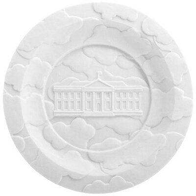 Makkum Biscuit Fog Banks Plate by Studio Job