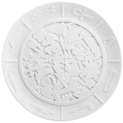 Makkum Biscuit Coded Message Plate by Studio Job