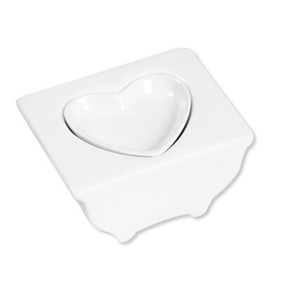 Ooga Studio White Elevated Heart Tray