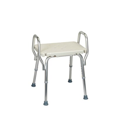 shower chair with backless molded seat and arms wayfair