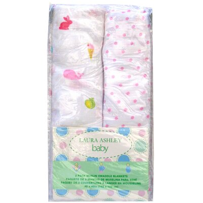 Laura Ashley Baby Muslin Wrap (Set of 2)