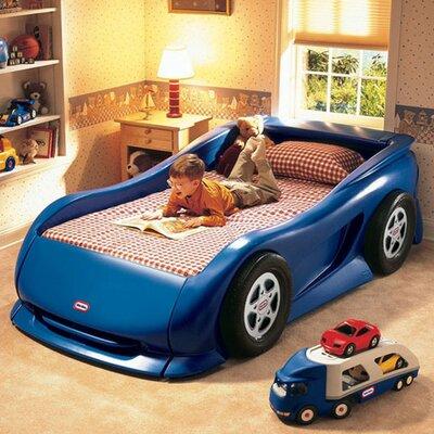 Blue Sports Car Twin Bed