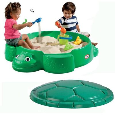 Little Tikes Turtle Round Sandbox with Cover