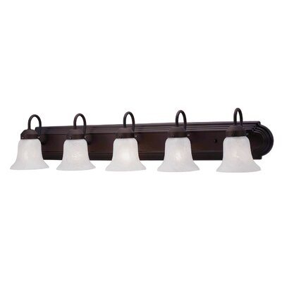 Livex Lighting Home Basics 5 Light Vanity Light