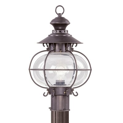 Livex Lighting Harbor  Outdoor Post Lantern in Bronze