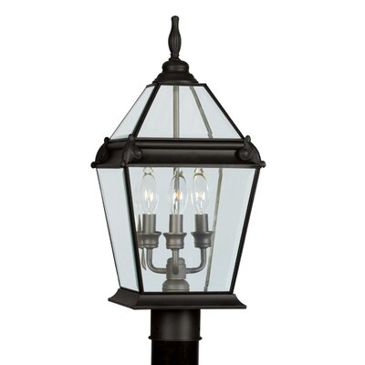 Livex Lighting Fleur De Lis  Outdoor Post Lantern in Bronze