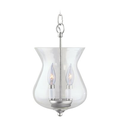 2 Light Convertible Foyer Pendant