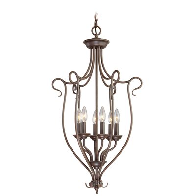 Livex Lighting Coronado 6 Light Foyer Pendant