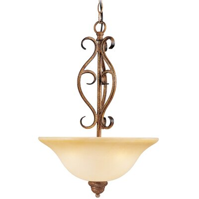 Bistro 3 Light Inverted Pendant