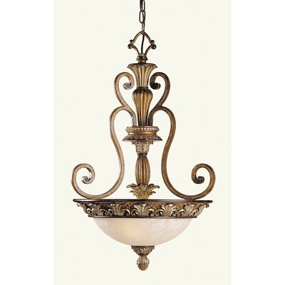 Livex Lighting Savannah 3 Light Inverted Pendant