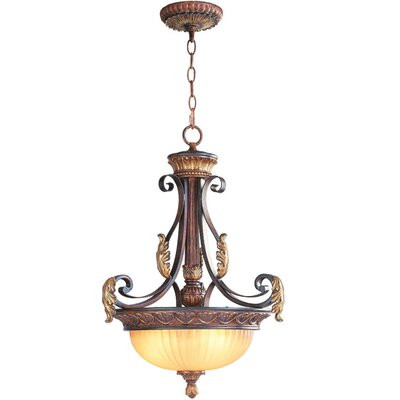 Livex Lighting Villa Verona 3 Light Inverted Pendant