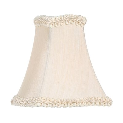 "Livex Lighting 4.5"" x 4.5"" Fancy Square Silk Clip Chandelier Shade in Champagne"