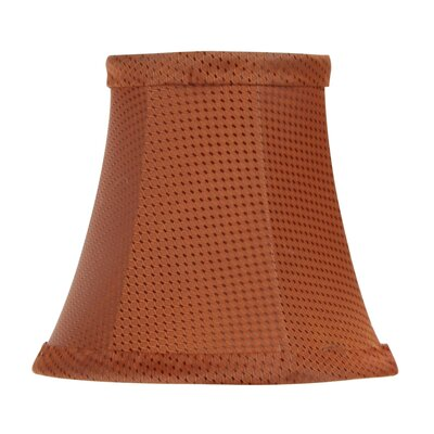 Patterned Bell Clip Silk Chandelier Shade in Black/Copper