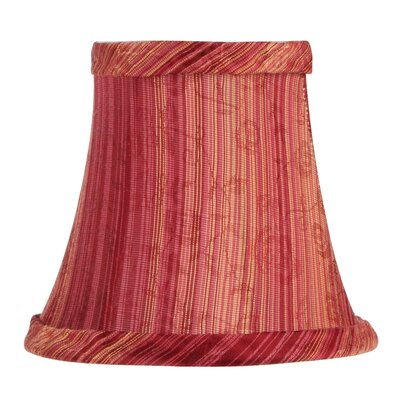 Red Wine Striped Silk Bell Clip Chandelier Shade