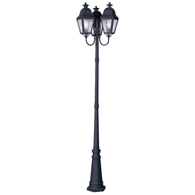"Livex Lighting Amwell 3 Light 98.5"" Outdoor Post Lantern Set"