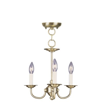 Home Basics 3 Light Mini Chandelier