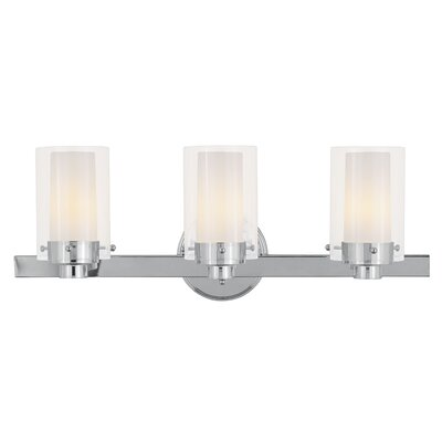 "Livex Lighting Manhattan 8.75"" Three Light Bath Vanity"